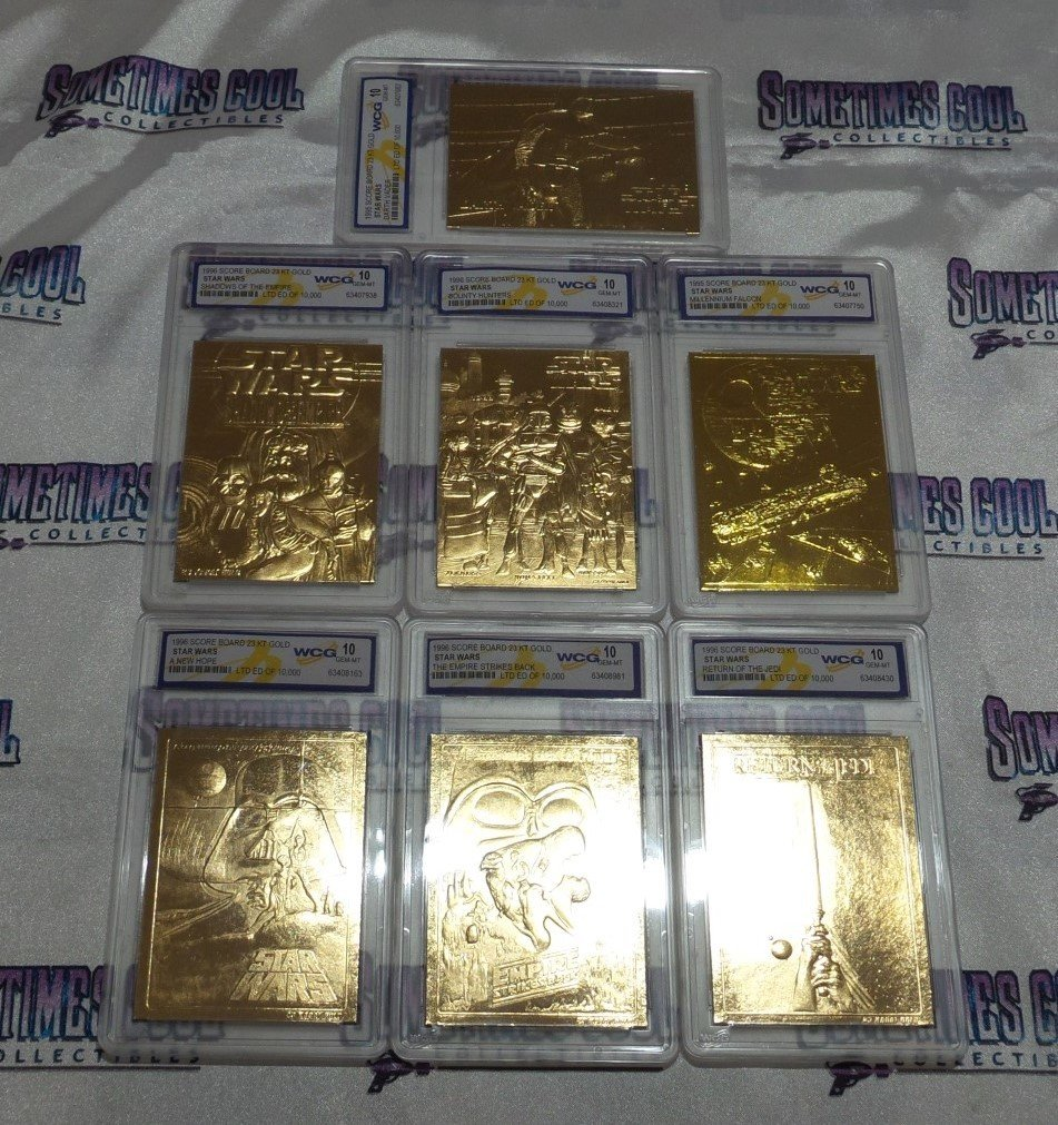 Star Wars Gold Trading Card Set