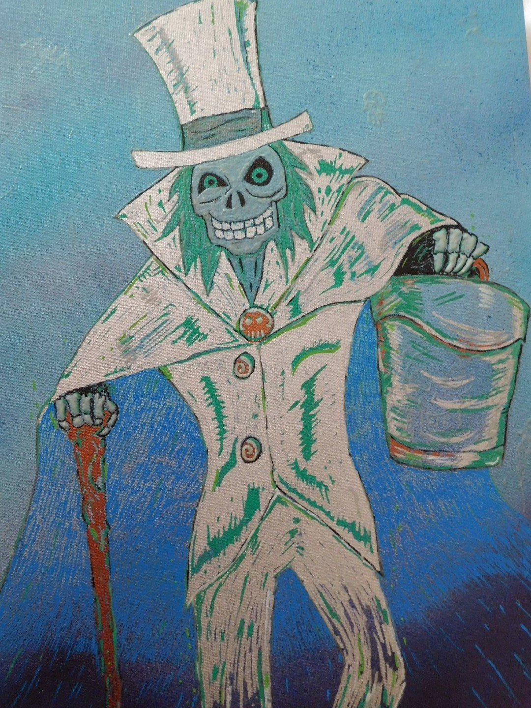 Hatbox Ghost Painting