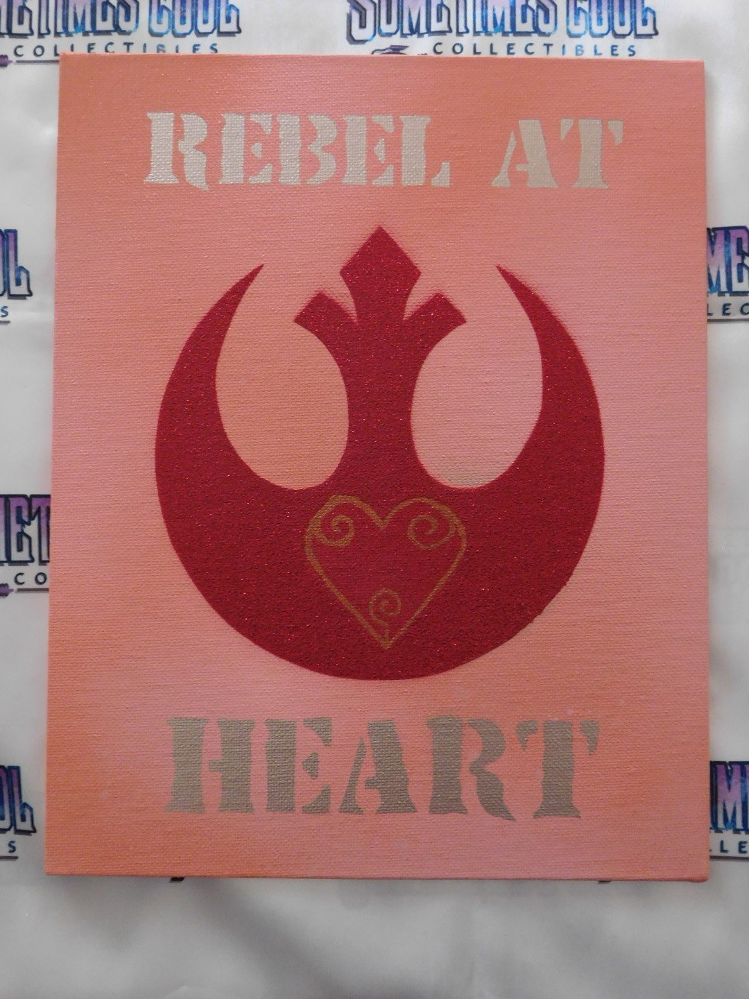 Rebel at Heart Painting in Pink