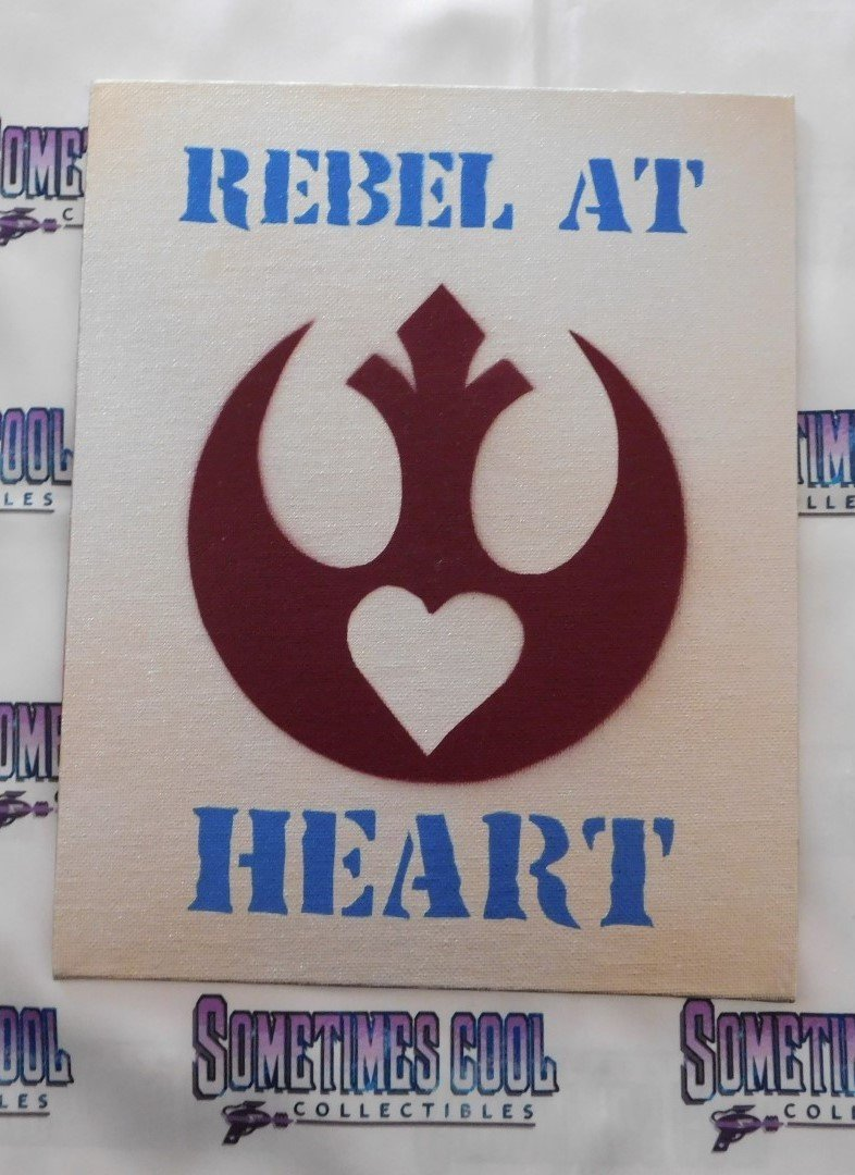 Rebel at Heart Painting in Silver