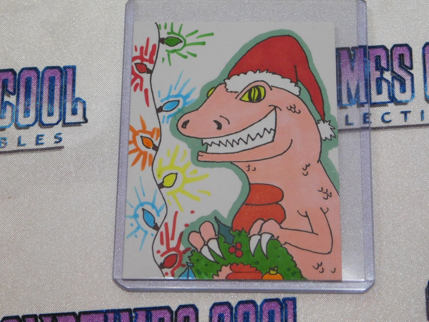 Jurassic Christmas Sketch Card