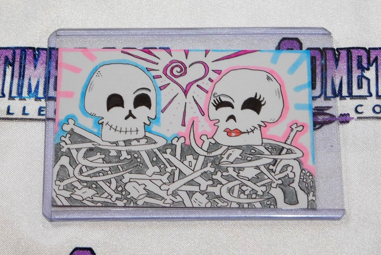 Skelly Love Sketch Card