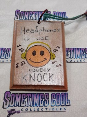 Mini Sign : HEADPHONES IN USE/SLEEPING