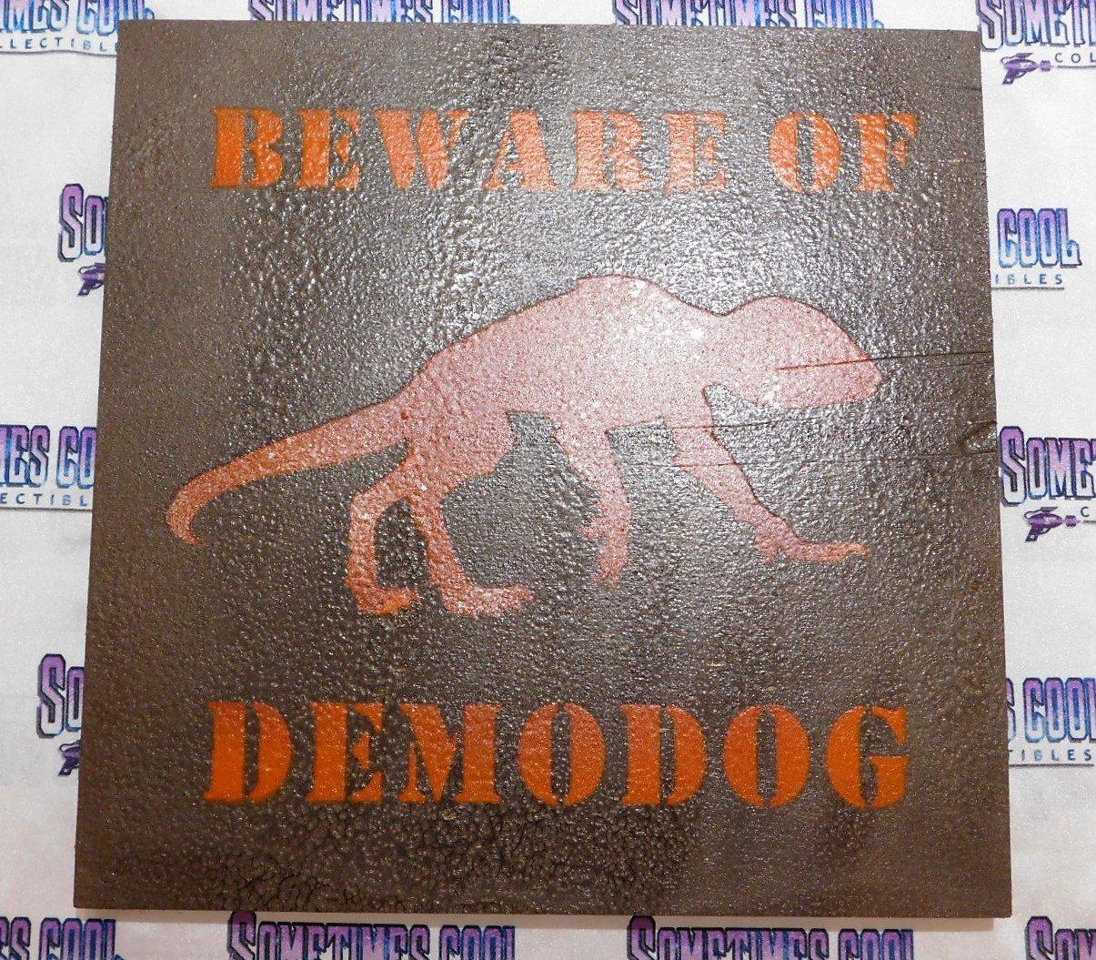 """Beware of Demodog : Stranger Things 12"""" x 12"""""""