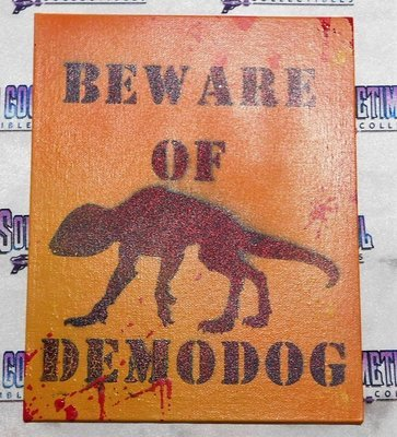 Beware of Demodog : Stranger Things 2 Sign (Bloody)