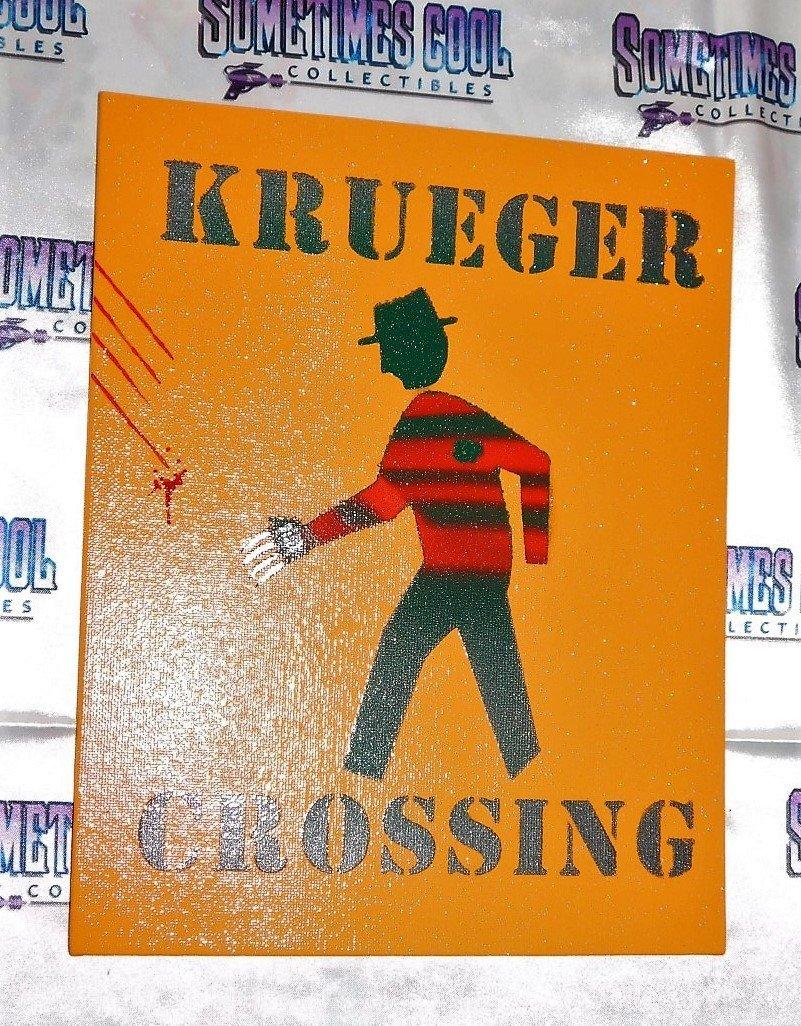 Krueger Crossing : Nightmare On Elm Street Sign (Orange)