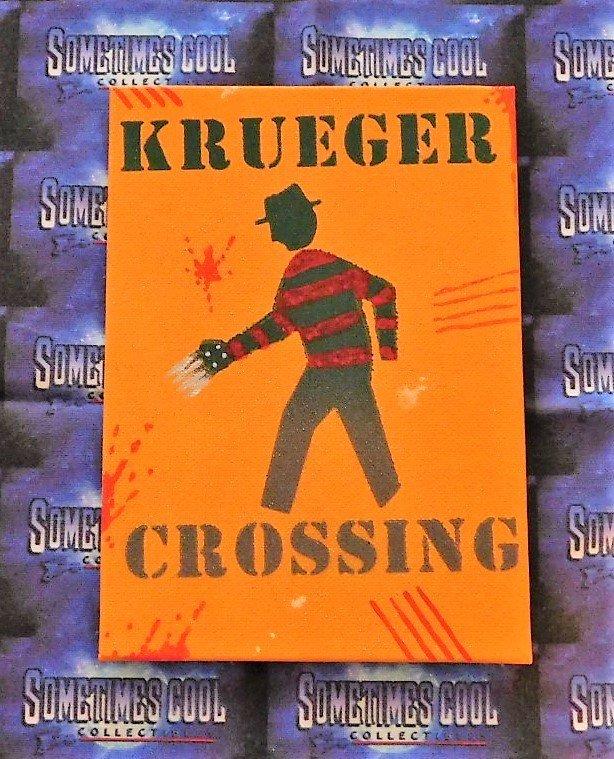 Krueger Crossing : Nightmare On Elm Street Mini Sign (Orange)