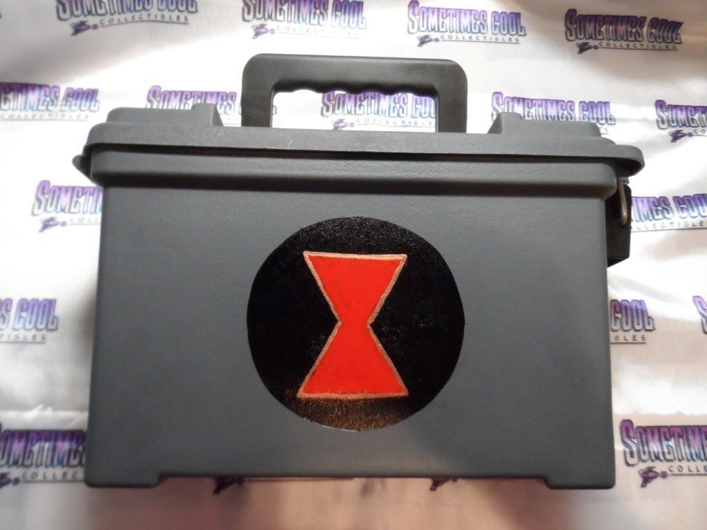 Ammo Box Customized - Black Widow logo