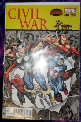 Civil War #1 -Wizard World Comic Con Box Variant