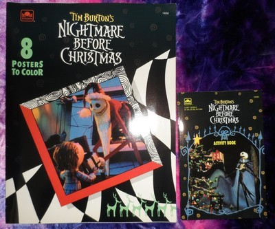 Nightmare Before Christmas Coloring Poster & Activity Books