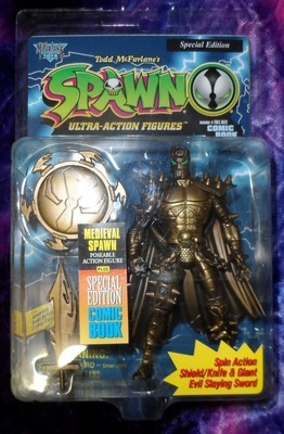 Spawn Action Figure : Medieval Spawn Gold