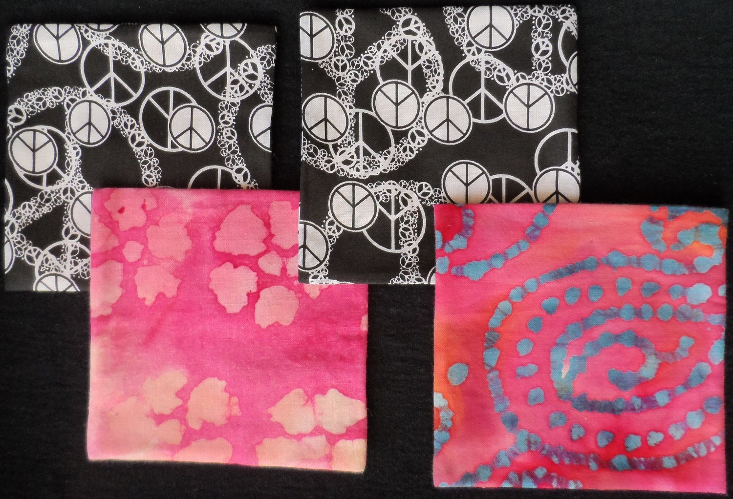 Coasters/Trivets - Peace Sign & Pink Tie-Dye