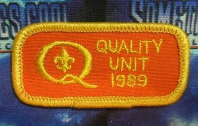 BSA Patch : Quality Unit Patch 1989