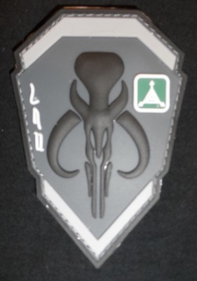 Mandalorian Logo Patch -Black/Gray
