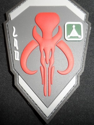 Mandalorian Logo Patch -Red/Gray