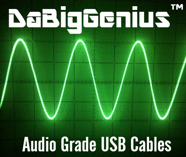 DaBigGenius(TM) No 5 Volt Audio Grade USB Cable Type B No5DaBigGenius