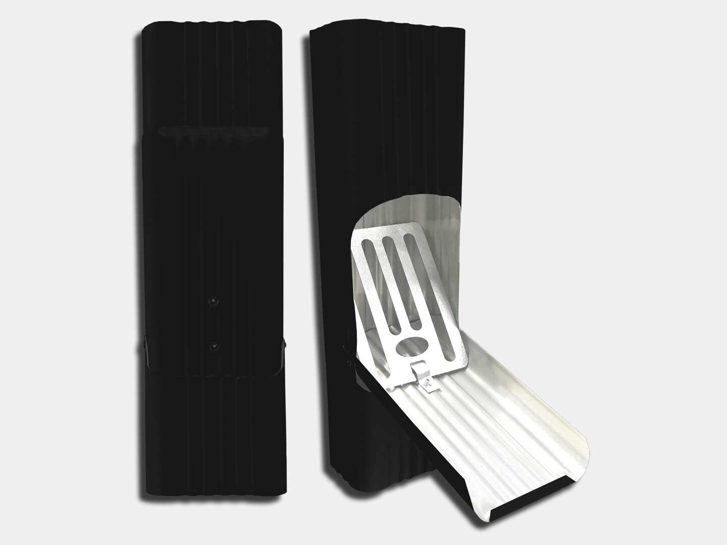 Square Corrugated Kynar Steel Downspout Cleanout