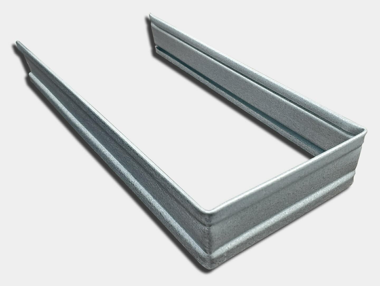 Plain Square Galvalume Downspout Strap