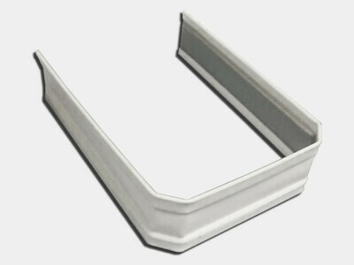 .032 Aluminum Kynar® Finish Corrugated Square Downspout Strap