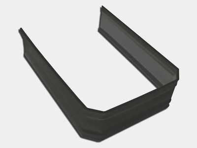 Kynar® Steel Corrugated Square Downspout Strap