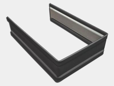 Plain Square Steel Downspout Strap