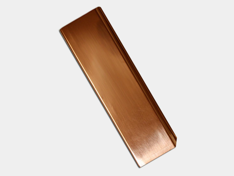 Plain Square Copper Downspout