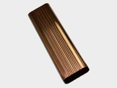 Square Corrugated Copper Downspout