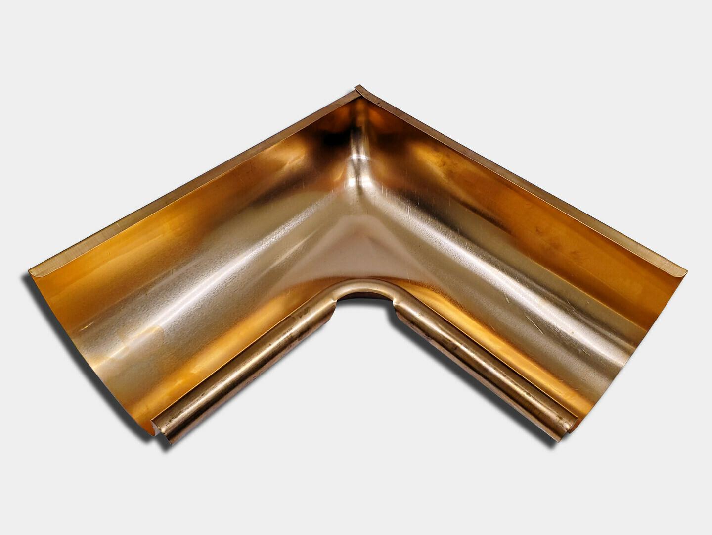 Seamless Euro Bead Half Round Copper Gutter Inside Miter