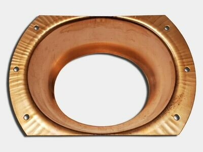 Oval Stamped Flat Flange Copper Gutter Outlet