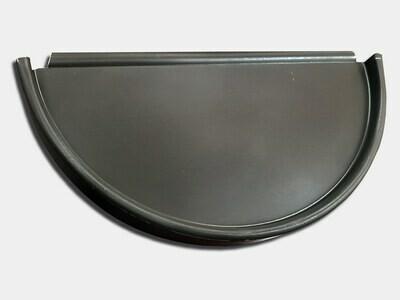Half Round Aluminum Gutter End Cap