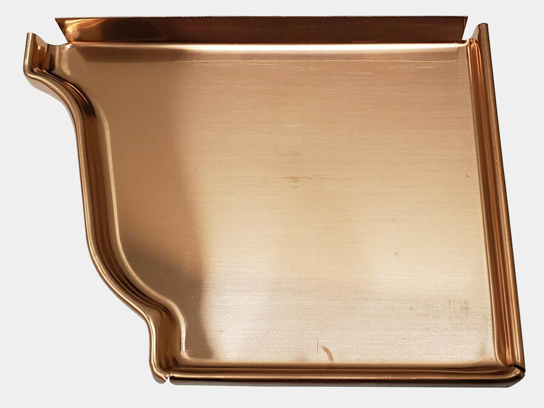 K-Style Copper Gutter Right End Cap