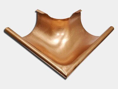 Seamless Euro Bead Half Round Outside Copper Gutter Miter