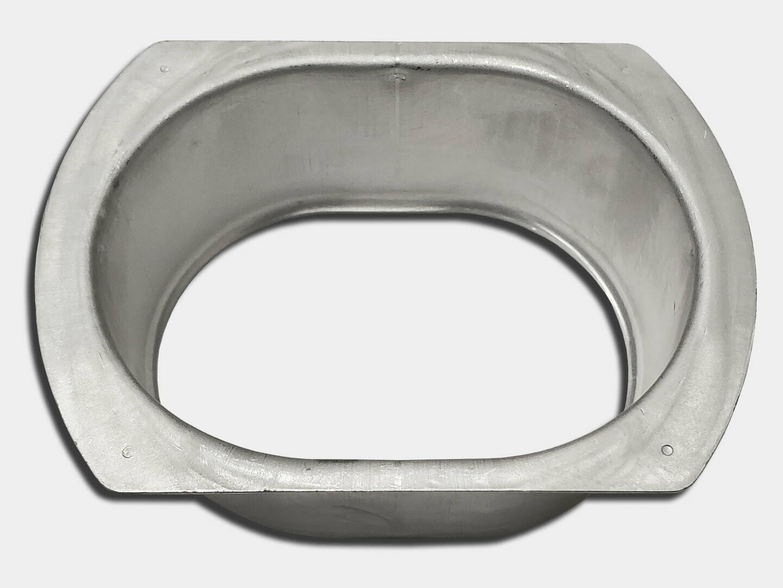 Oval Stamped Flat Flange Aluminum Gutter Outlet