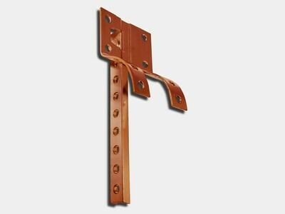 Crown Molding Copper Shank #6 for Half Round Gutter Hanger