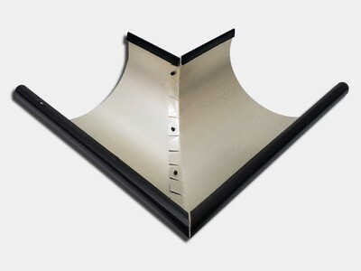 Kynar® Steel Half Round 90 Degree Outside Miter