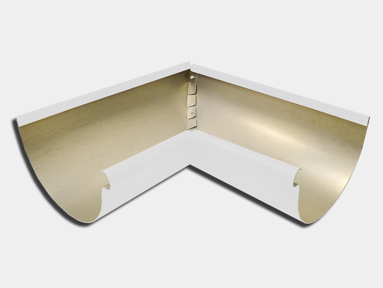 Kynar® Steel Half Round 90 Degree Inside Miter