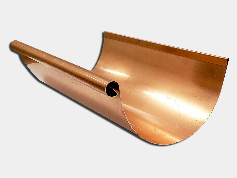 Euro Bead Half Round Copper Gutter