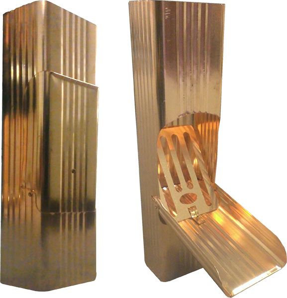 Corrugated Square Downspout Cleanout Copper