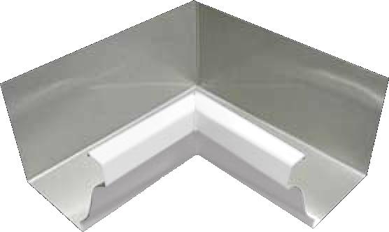 Aluminum 027 K Style 90 Degree Inside Miter Gutter