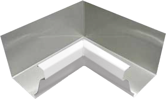 Kynar 174 Steel K Style 90 Degree Inside Miter