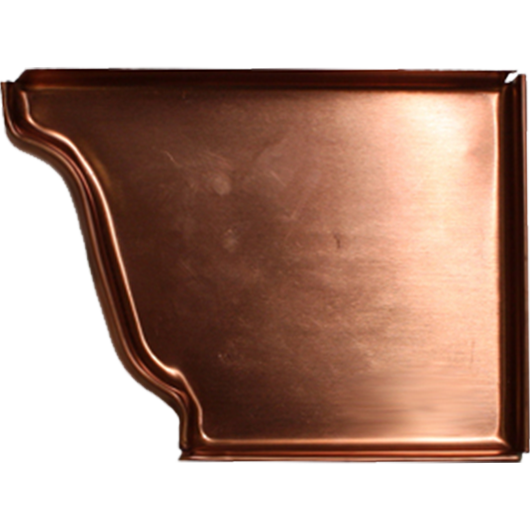 Copper K Style End Cap Right K Amp M Sheet Metal Gutter