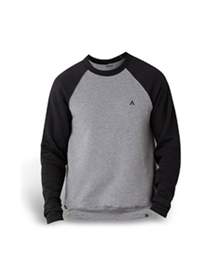 Pull-Over Crew Black/Grey
