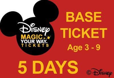 5 Days Base Ticket - Age 3-9