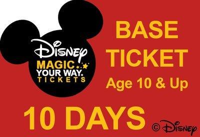 10 Days Base Ticket - Age 10 & Up