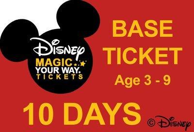 10 Days Base Ticket - Age 3-9
