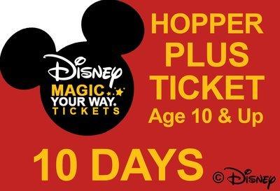 10 Days Park Hopper Plus Ticket - Age 10&Up