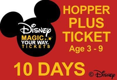 10 Days Park Hopper Plus Ticket - Age 3-9
