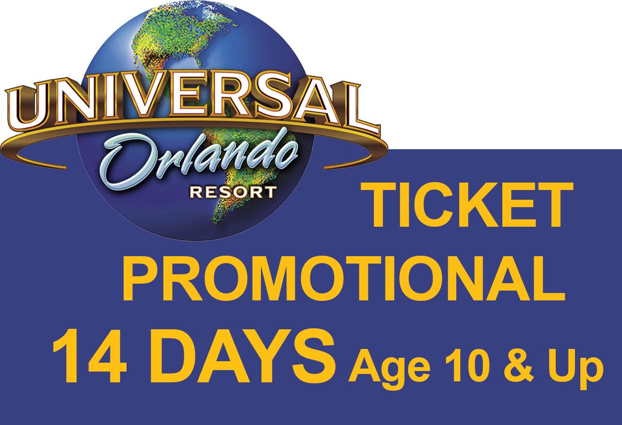 Promotion Universal 3-Park Explorer Ticket - Age 10 & Up