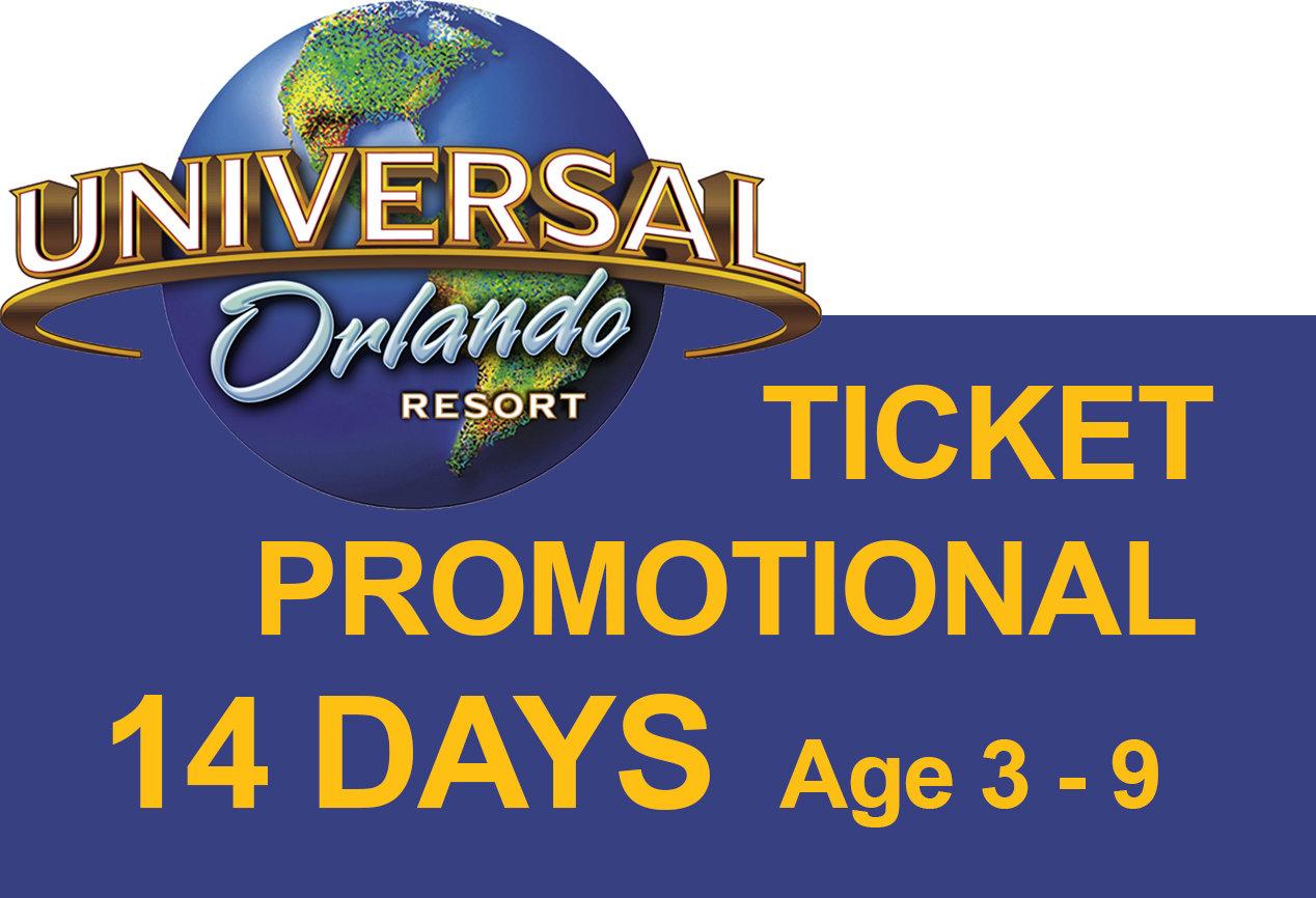 Promotion Universal 3-Park Explorer Ticket - Age 3-9