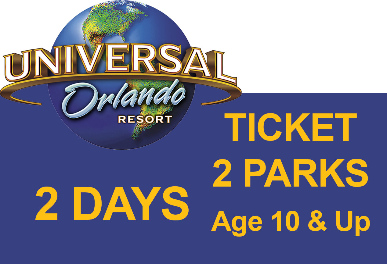 Universal 2-Park to Park 2 (two) days Ticket - Age 10 & Up